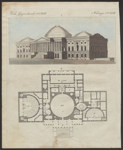 Elevation and Floor Plan of the Capitol