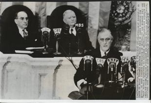 President Roosevelt Addresses a Joint Session