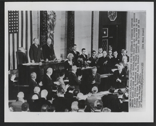 Queen Juliana of the Netherlands Addresses a Joint Meeting of Congress