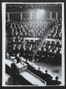 Astronaut John Glenn Addresses a Joint Meeting of Congress