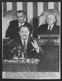 President Mohammad Ayub Khan of Pakistan Addresses a Joint Meeting of Congress