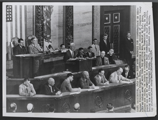 Korean President Syngman Rhee Addresses a Joint Meeting of Congress