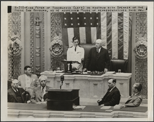 King Peter of Yugoslavia Addresses the Congress