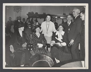 Mrs. Roosevelt and Miss MacDonald Attend Labor Hearing