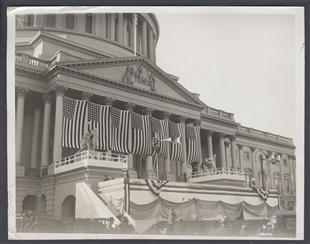 Decorated for Washington's Birthday Ceremonies