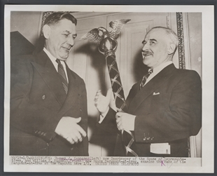 Tom Kennamer and William F. Russell Examine the Mace of the Sergeant-at-Arms at the Capitol