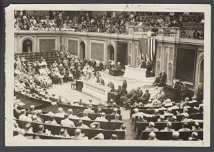 President Harding Addressing Joint Session of Congress on Coal and Rail Strike Situation