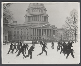 Snowball Fight at the Capitol