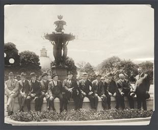 Members of Senate and House Committees Inspecting the Botanical Gardens