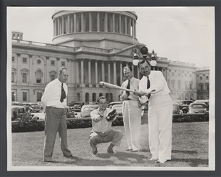 Congressmen Practice for Game with Correspondents