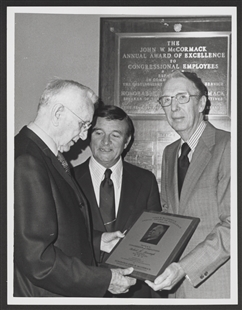 John W. McCormack Award Presented to Robert M. Menaugh