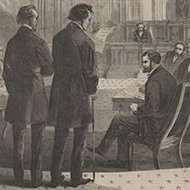 The House Impeaches Andrew Johnson