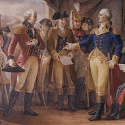 Constantino Brumidi's Fresco of the British Surrender at Yorktown