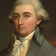The portrait of Speaker of the House Jonathan Trumbull of Connecticut
