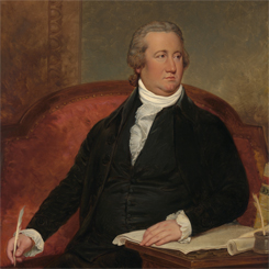 The first Speaker of the House, Frederick A.C. Muhlenberg of Pennsylvania
