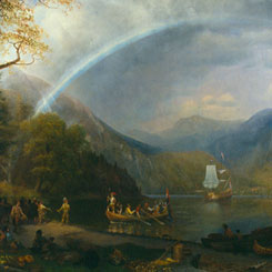 Albert Bierstadt's Paintings <em>The Discovery of the Hudson</em> and <em>Autumn in the Sierras</em>