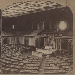 The opening of the current House Chamber