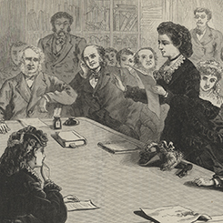 The First Woman to Address a House Committee