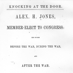 Representative Alexander Hamilton Jones of North Carolina