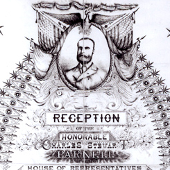 A House Reception for Irish Parliament Member Charles Stewart Parnell
