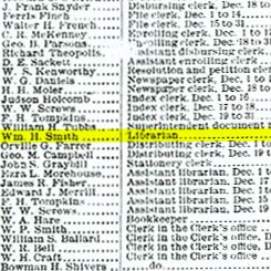 The Appointment of William H. Smith as House Librarian