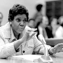 Representative Barbara Jordan of Texas