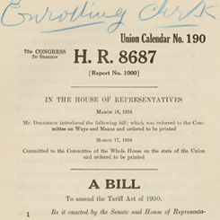 The Reciprocal Trade Agreement Act of 1934