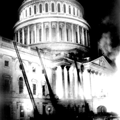 The 1930 Fire Near the Dome of the Capitol