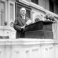 A Joint Session of Congress memorializing President Woodrow Wilson
