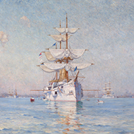 The portrait of <em>Peace (The White Squadron in Boston Harbor)</em>