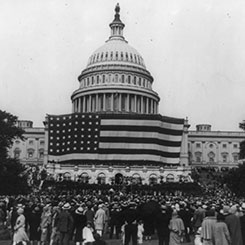 An Enormous American Flag was Displayed at the Capitol