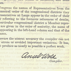 Ansel Wold's <i>Biographical Directory of the American Congress </i>