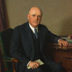 The Portrait of Speaker of the House Sam Rayburn of Texas