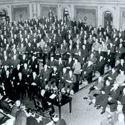 President Franklin D. Roosevelt's Final Address to a Joint Session