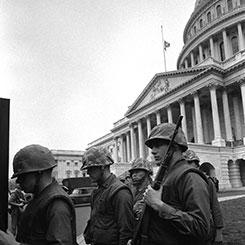 Federal Troops Guarded the U.S. Capitol Following the Assassination Dr. Martin Luther King Jr.