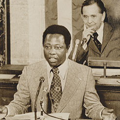 Baseball Player Hank Aaron Addresses the House