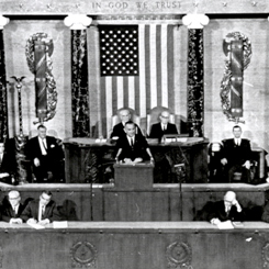 The First Televised Evening State of the Union Address