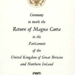 Great Britain's Gift of the Magna Carta to the United States