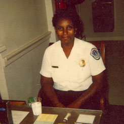 The first African-American Capitol Police woman