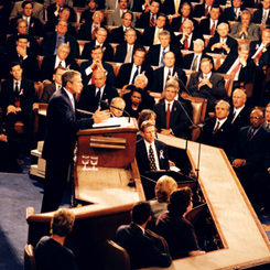 President George W. Bush Addressed a Joint Session of Congress on the Subject of the War on Terrorism