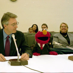 Elmo, the Muppet from Sesame Street, Testified Before a House Appropriations Subcommittee