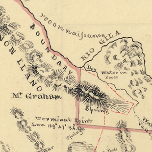 Mexican Boundary Survey Sketch