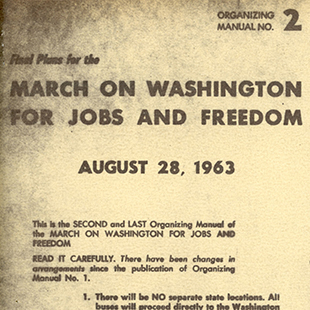 March on Washington Pamphlet