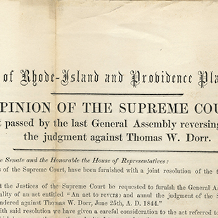 Thomas W. Dorr Court Ruling