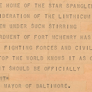 Star-Spangled Banner Telegram