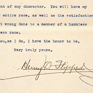 Letter from Lt. Henry O. Flipper