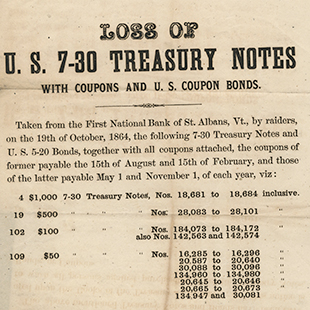 Raided Treasury Notes