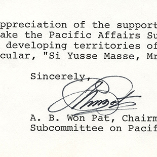 Letter to Chairman Udall