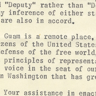 Territorial Deputy for Guam