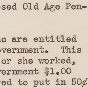 Letter Supporting Social Security